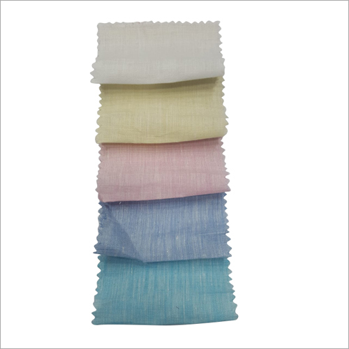 Multi Coloured Linen Shirting Fabric