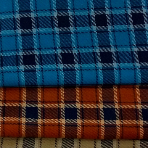 Checkered Cotton Shirting Fabric