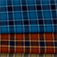 Checked Cotton Shirting Fabric