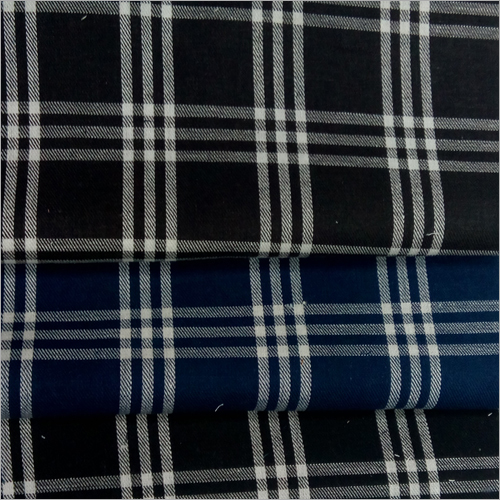 Linen Checkered Shirting Fabric