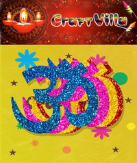 Diwali Card Sticker