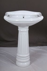 Ceramic Wash Basin with Pedestal