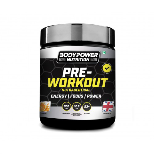 Pre Workout Nutraceutical Supplement Powder