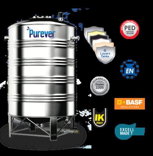 5000 Litre Pharminox 6 Layer Stainless Steel Water Tanks