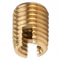 Brass Semi-threaded Groove Insert