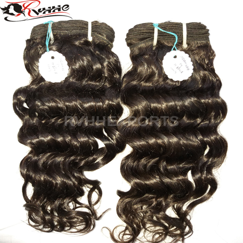 Natural Black Curly Remy Human