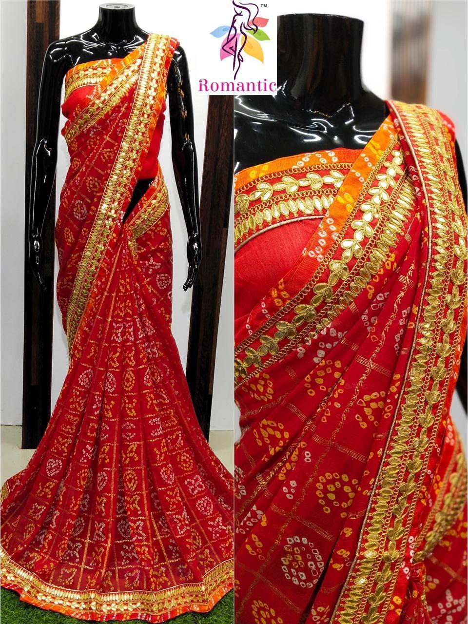 Red Georgette Sarees