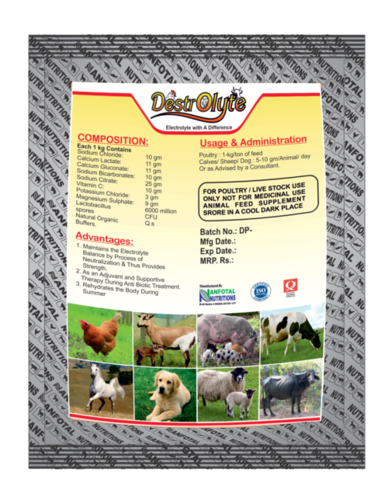 Poultry Feed Electrolyte Supplement (Destrolyte)