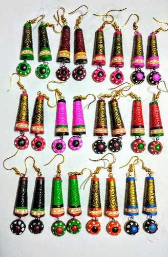Stick button Terracotta Earring