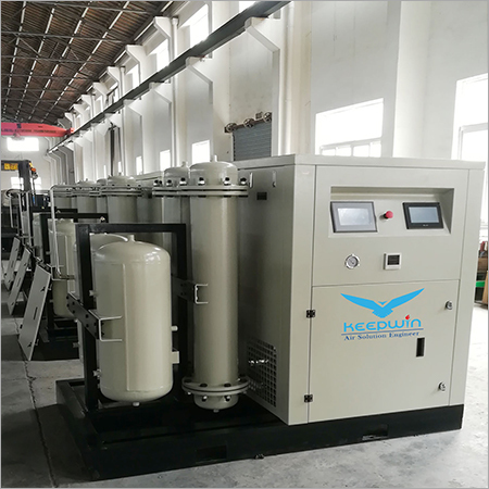 7.5 bar Skid type Oil Inject Scroll Air Compressor with pressure vessel air tank