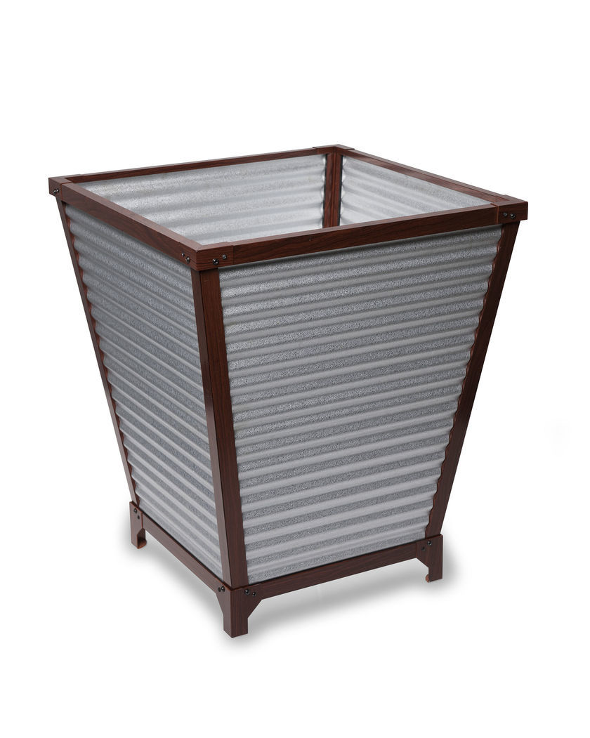 Set of 3 Metal Planters with Diamond Design For Home Decor