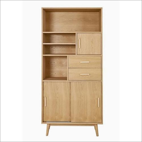 Wooden Sliding Door Bookshelf