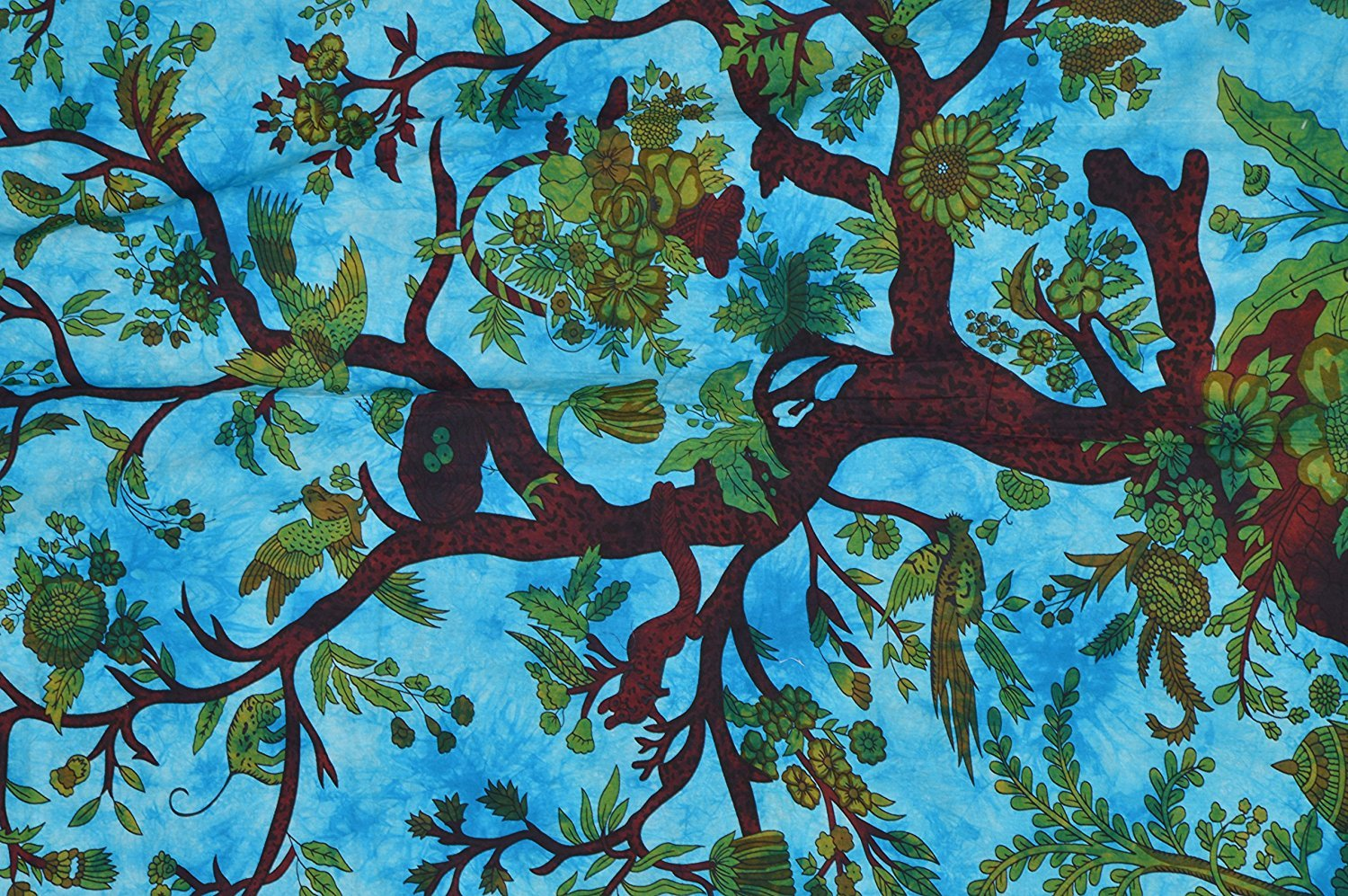 Indian Handmade Tree Of Life Duvet Cover