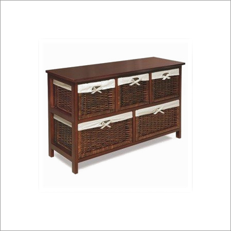 Wood Five Drawer Chest