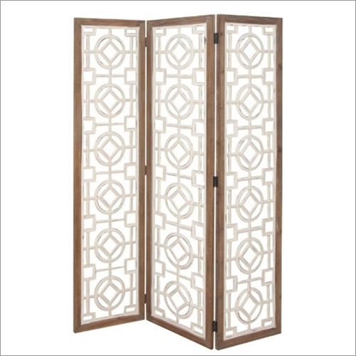 Tri Fold Wooden Folding Screen