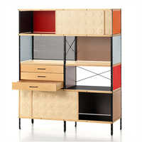 Multiple Shelf Designer Wooden Storage Cabinet