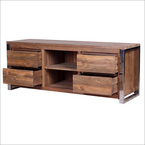 4 Drawer Wooden TV Cabinet