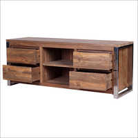 4 Drawer Wooden TV Cabinet