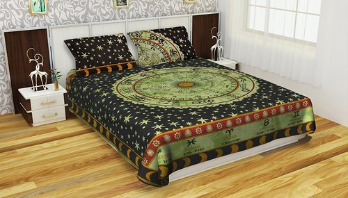 100% Cotton Handmade Astrology Mandala Duvet Cover