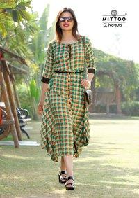 Mittoo Fancy Designer Rayon Kurtis