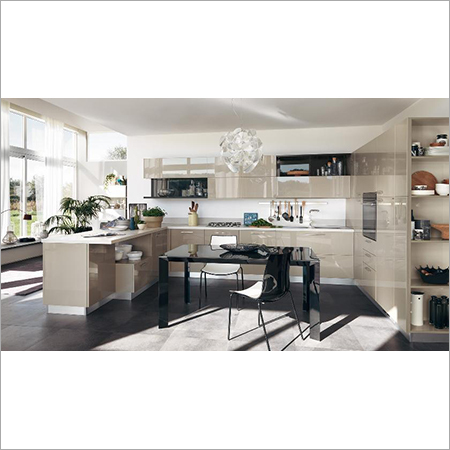Contemporary Style Modular Kitchen