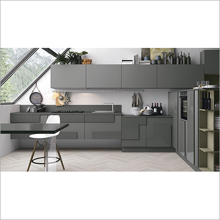 Geometric kitchen cabinets