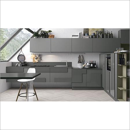 Geometric kitchen cabinets