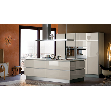 HI-Gloss PU Modular kitchen