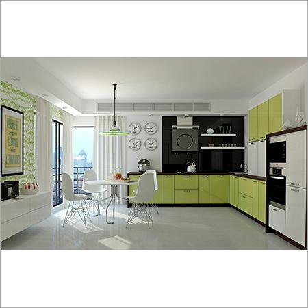 UV Finish Modular kitchen
