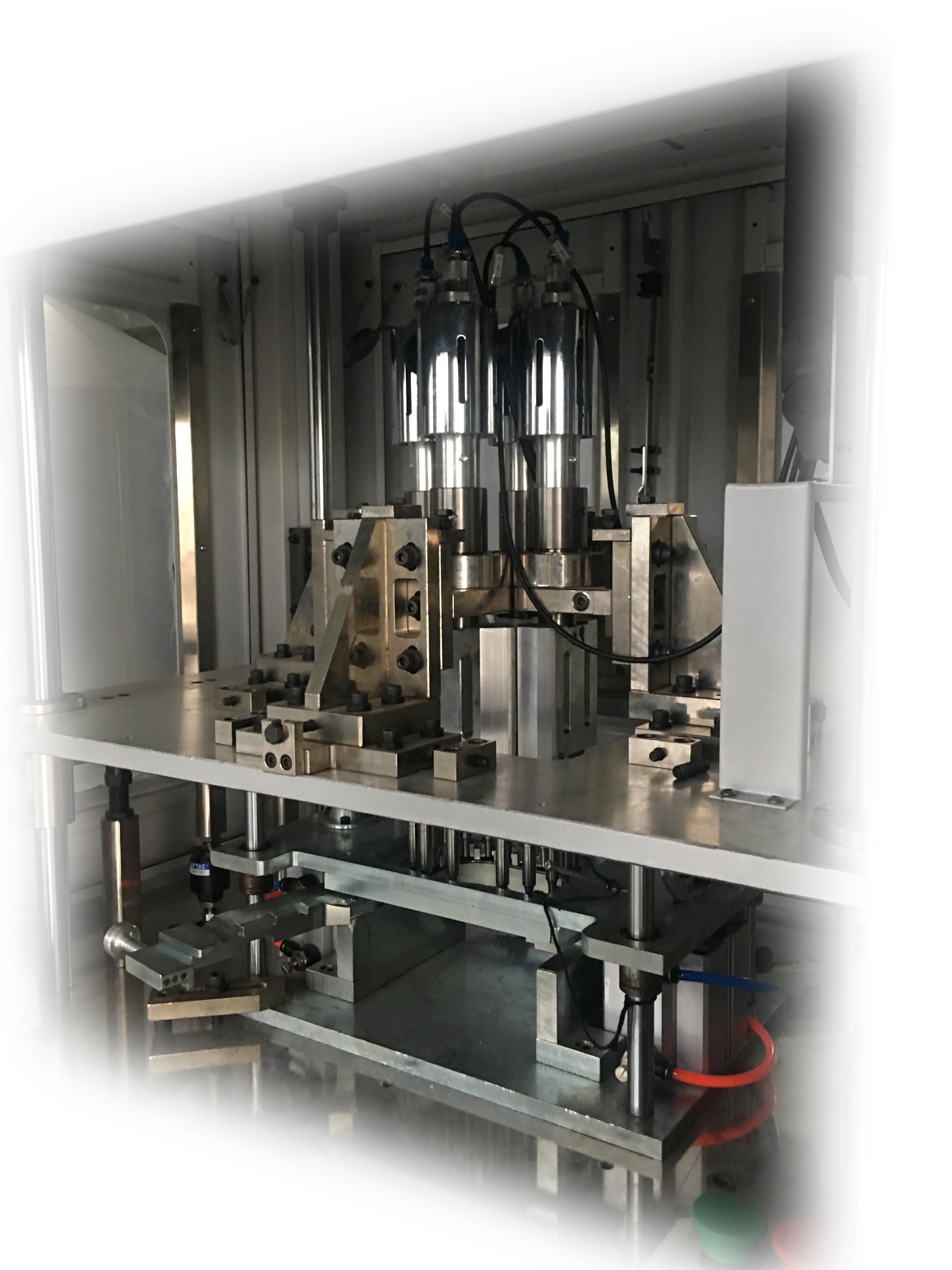 Gas Valve Ultrasonic Welding Stacking Assembling Machine
