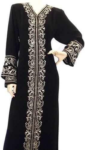 Abaya Embroidery Fabric