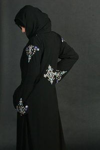 Burqa Embroidery Fabric