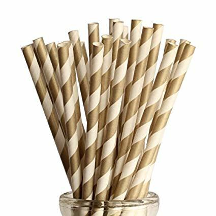 Colored Retro Designed Paper Straw