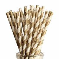 Colored Retro Designed Paper Straw