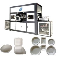 Bagasse pulp food container making machine