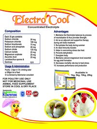 Poultry Electrolyte Supplement (Electro Cool)