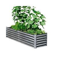 Galvanized Metal Planter Row Bed Bundle