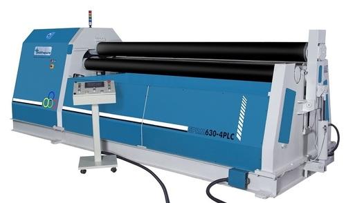 HYDRAULIC 4ROLL PRE PINCH PLATE ROLLING MACHINE