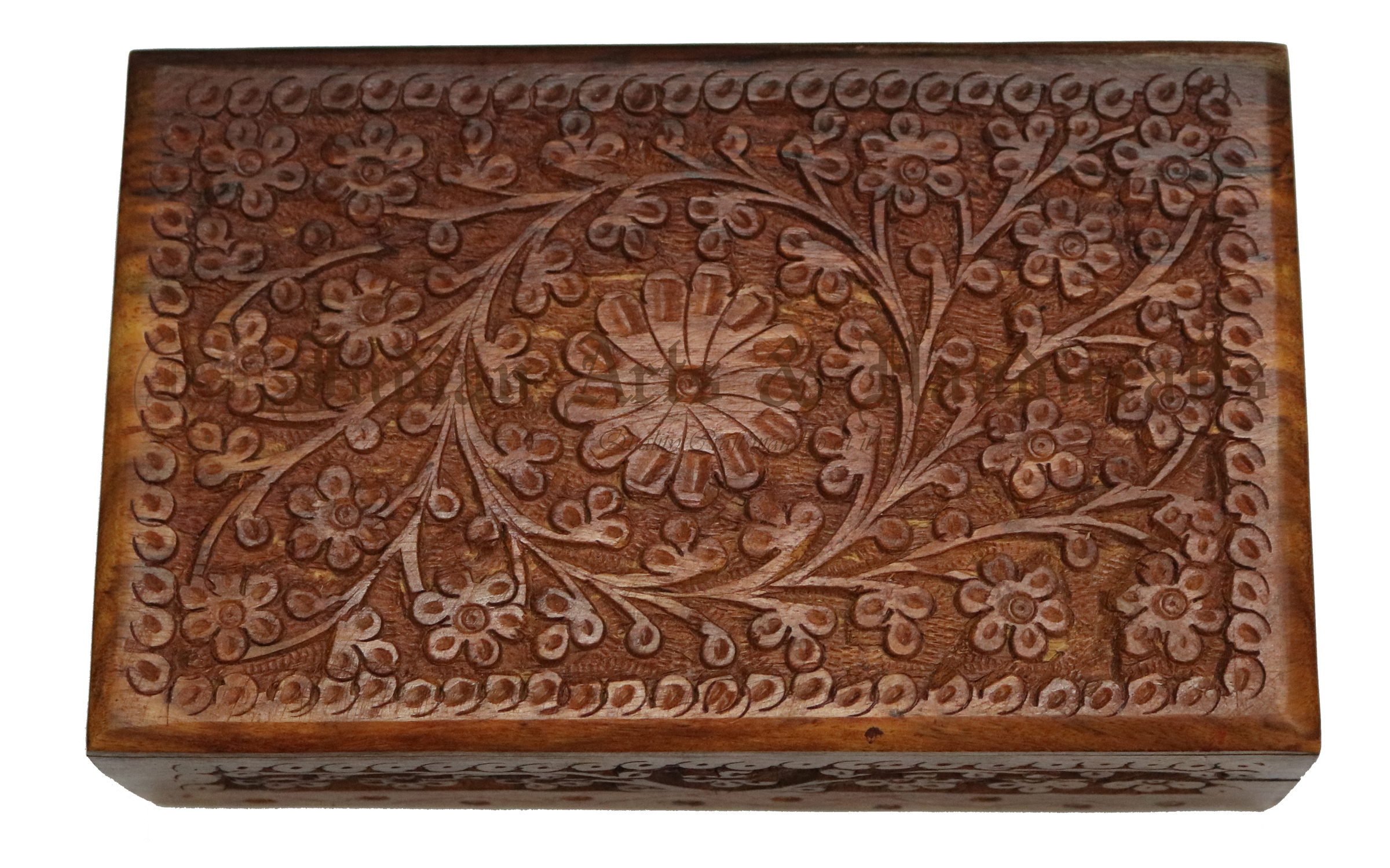 Full Carved Wooden Box