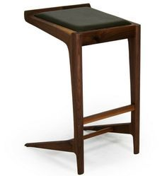 Leather Seat Brown Bar Stool