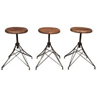 Industrial Round Bar Stools