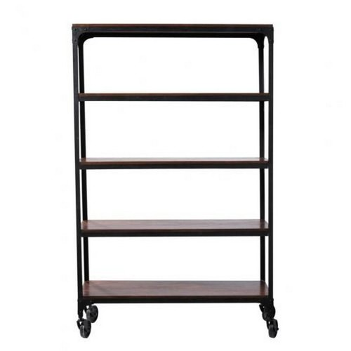 Industrial Bookshelf with Wheel Small