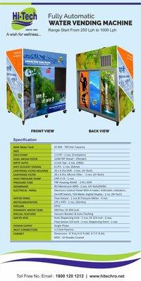 Water vending machine coin & card operate