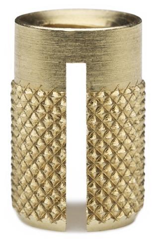 Brass Plastic moldable threaded Insert