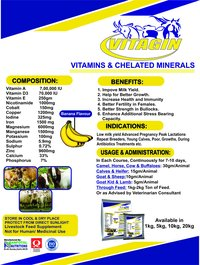 Cattle Vitamins & Chelated Mineral Supplement