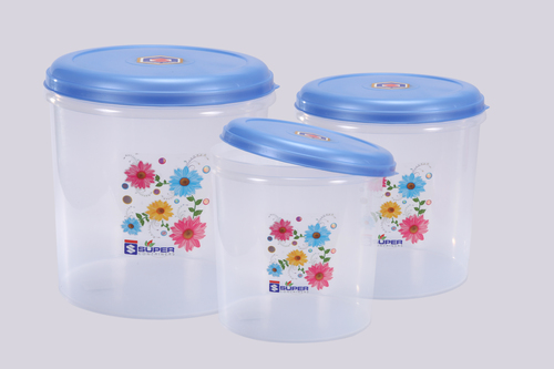 Plastic Container C - Thru set (3 Pcs)