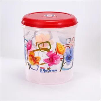 10 Ltr. Plastic Container C- Thru printed