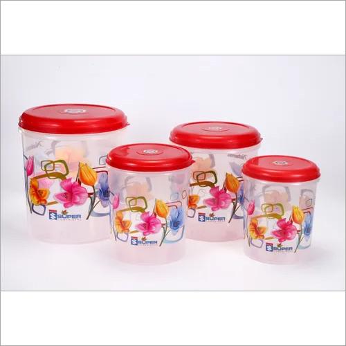 Plastic Container C - Thru Printed set (3 Pcs)