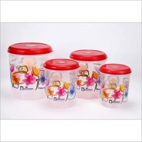 Plastic Container C - Thru Printed set (3 Pcs)