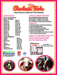 Cattle Multivitamin Supplement With Trace Minerals.